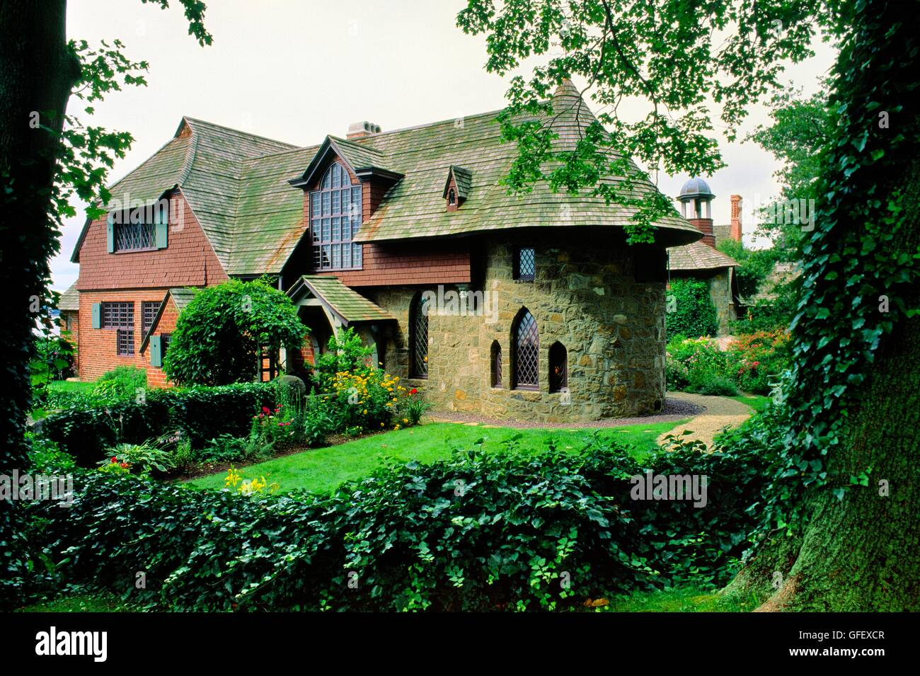 The Sleeper-McCann House known as Beauport, in Gloucester, Massachusetts, New England, USA - Stock Image