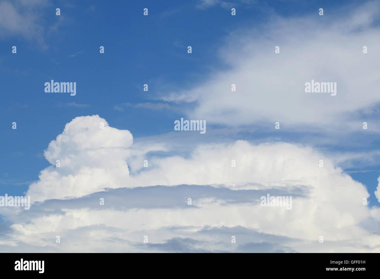 cumulonimbus cloud and blue sky - Stock Image