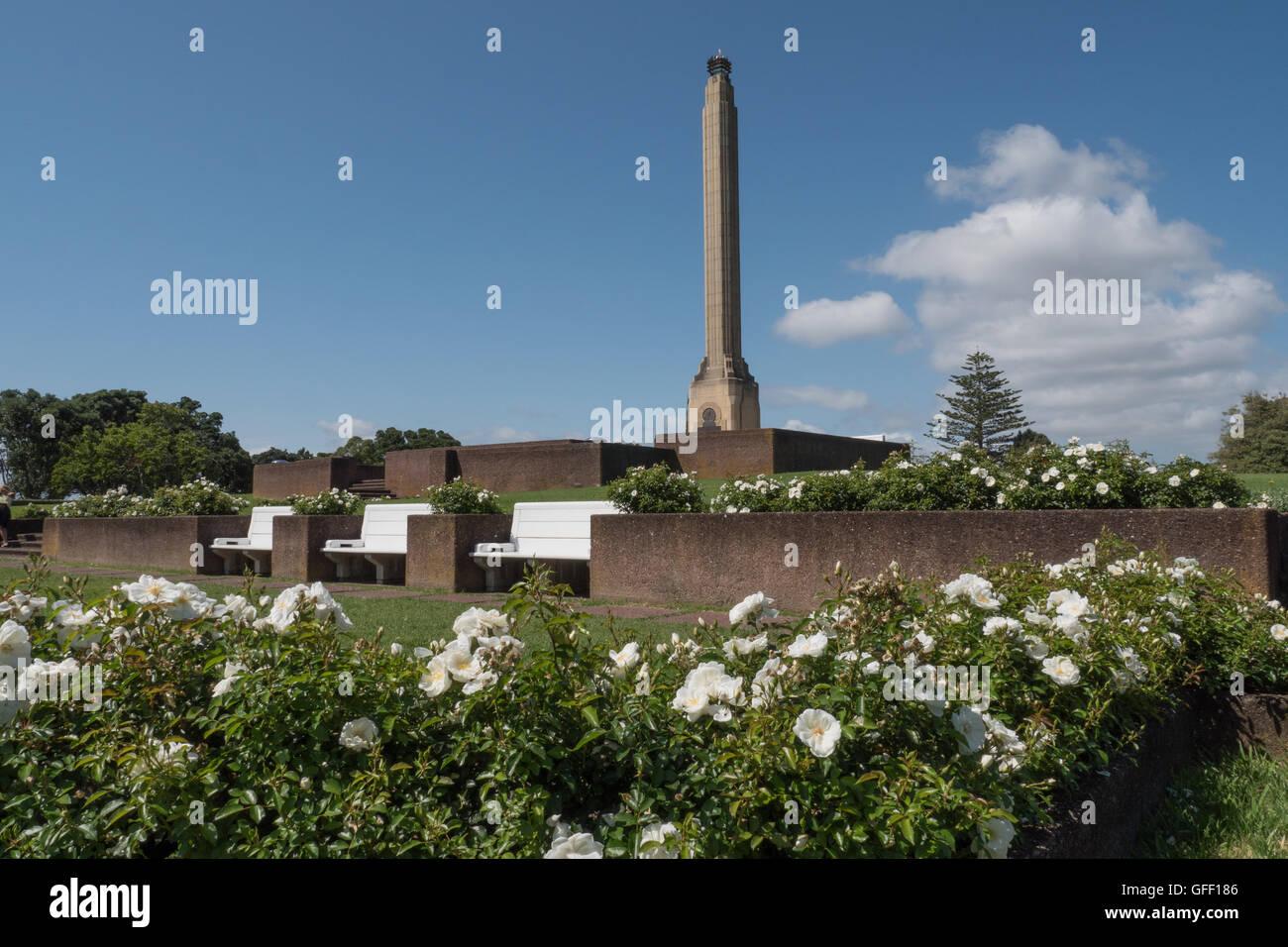 Michael Joseph Savage memorial, Orakei memorial park, Bastion Point, Auckland, New Zealand. - Stock Image