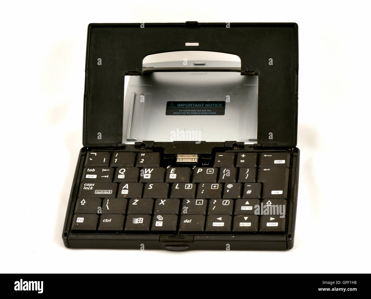 Portable keyboard for the old HP Compaq IPAQ personal organizer PDA smart device - Stock Image