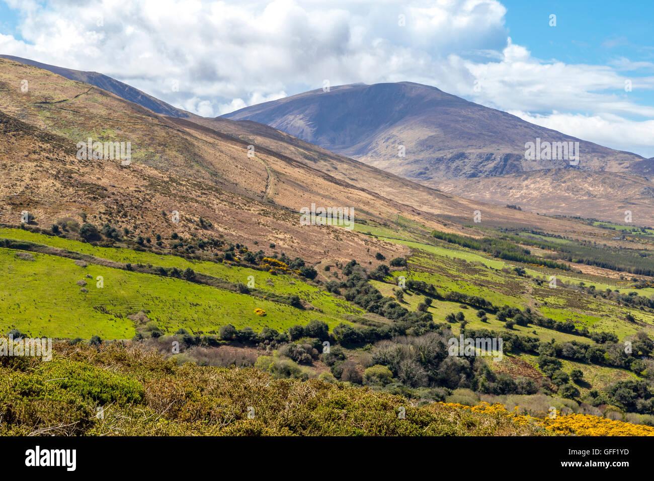 Scenic landscape beauty, Dunquin, Dingle Peninsula, County Kerry, Munster Province, Republic of Ireland. Stock Photo