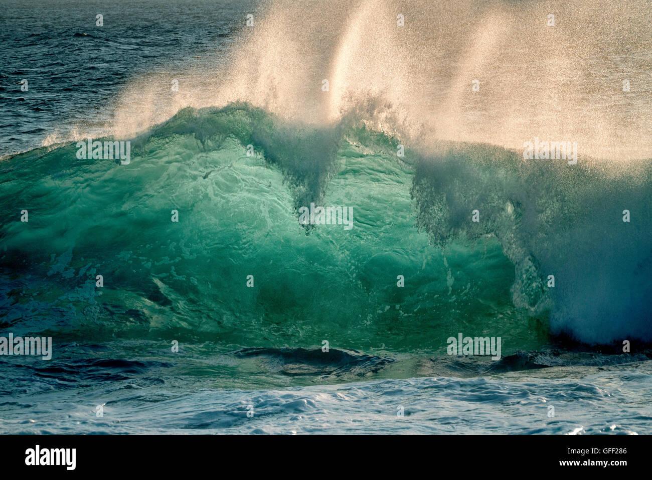 Large ocean waves. Hawaii Island. Stock Photo