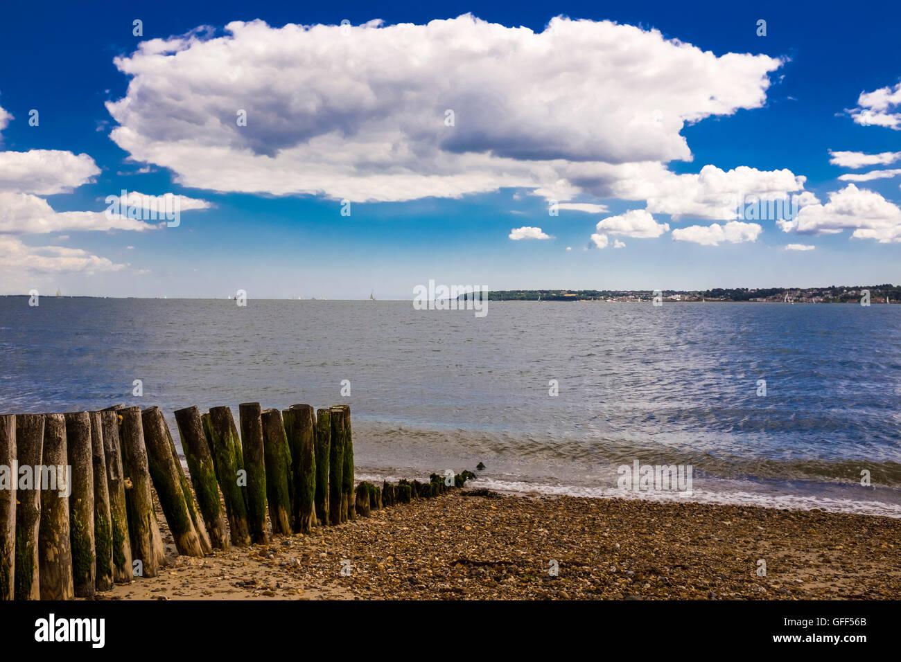 Blue Sky Beach - Stock Image