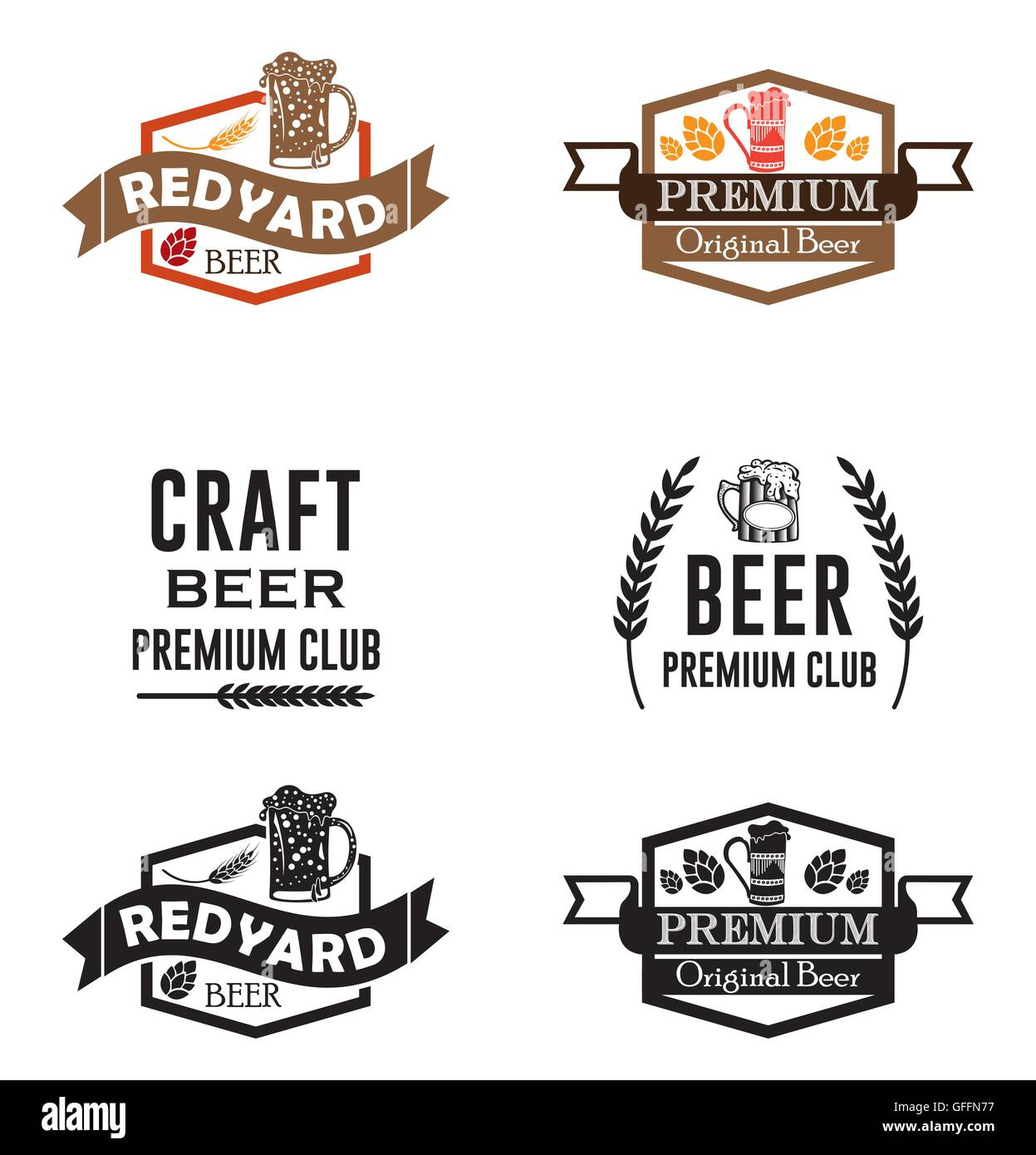 vintage beer logos  u0026 badges craft beer brewery emblems