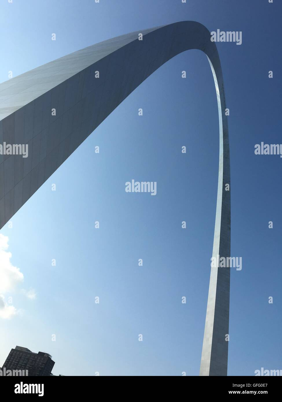 Gateway to the West St. Louis Arch Stock Photo