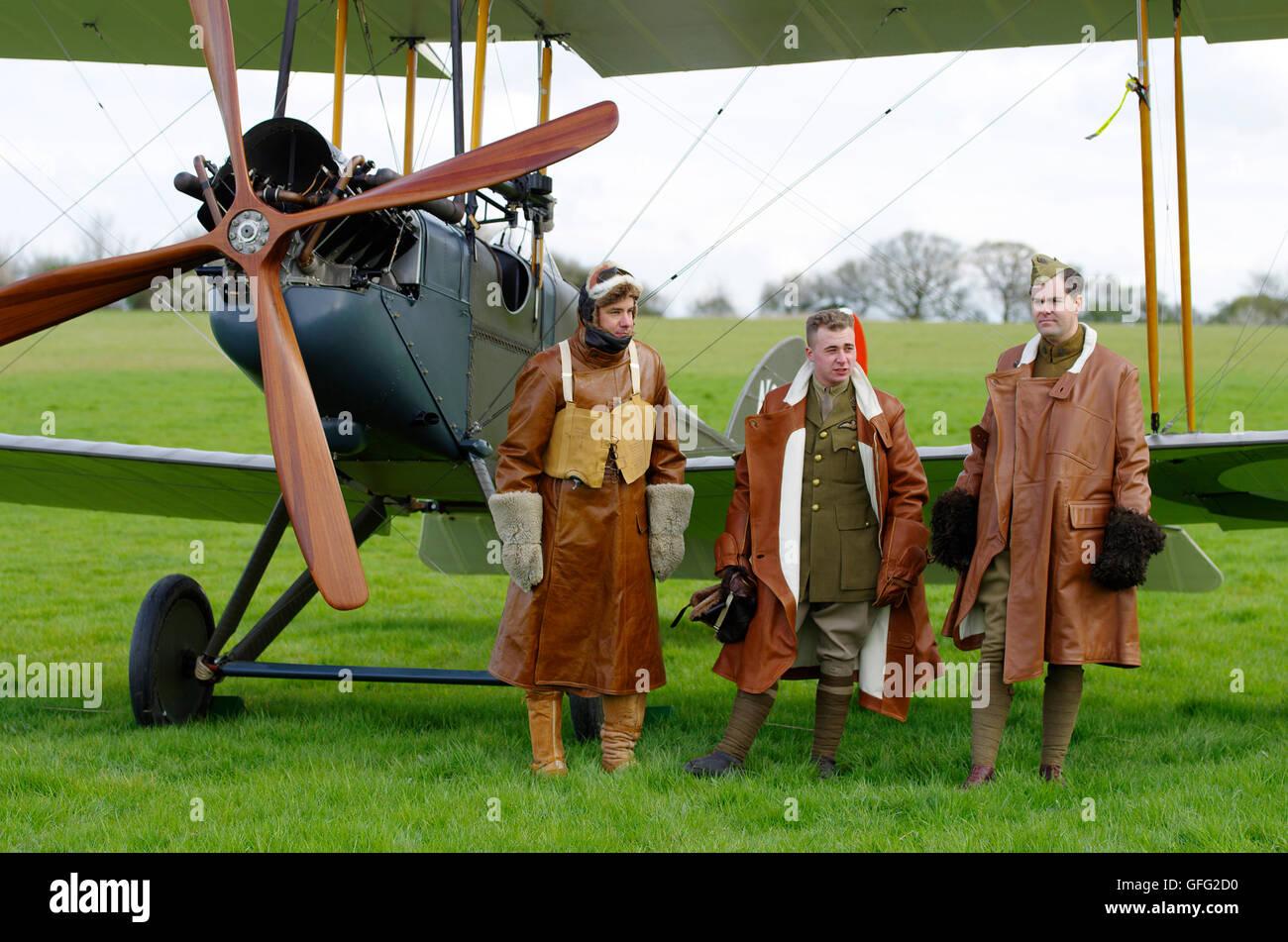 Be2e at Stow Maries Great War Aerodrome - Stock Image