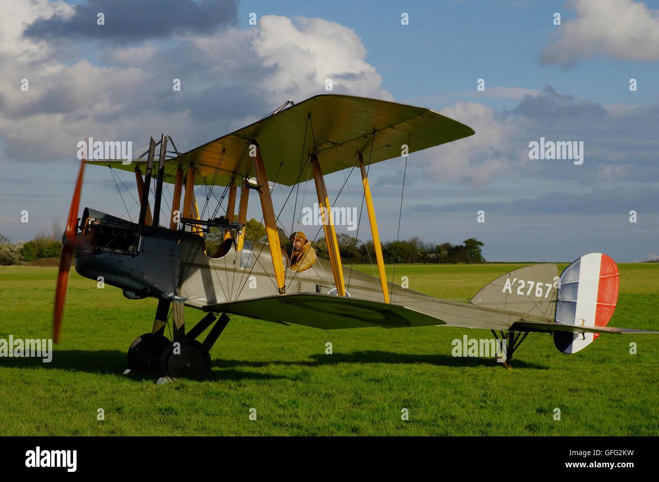 Be2e Replica at Stow Maries Aerodrome Essex - Stock Image