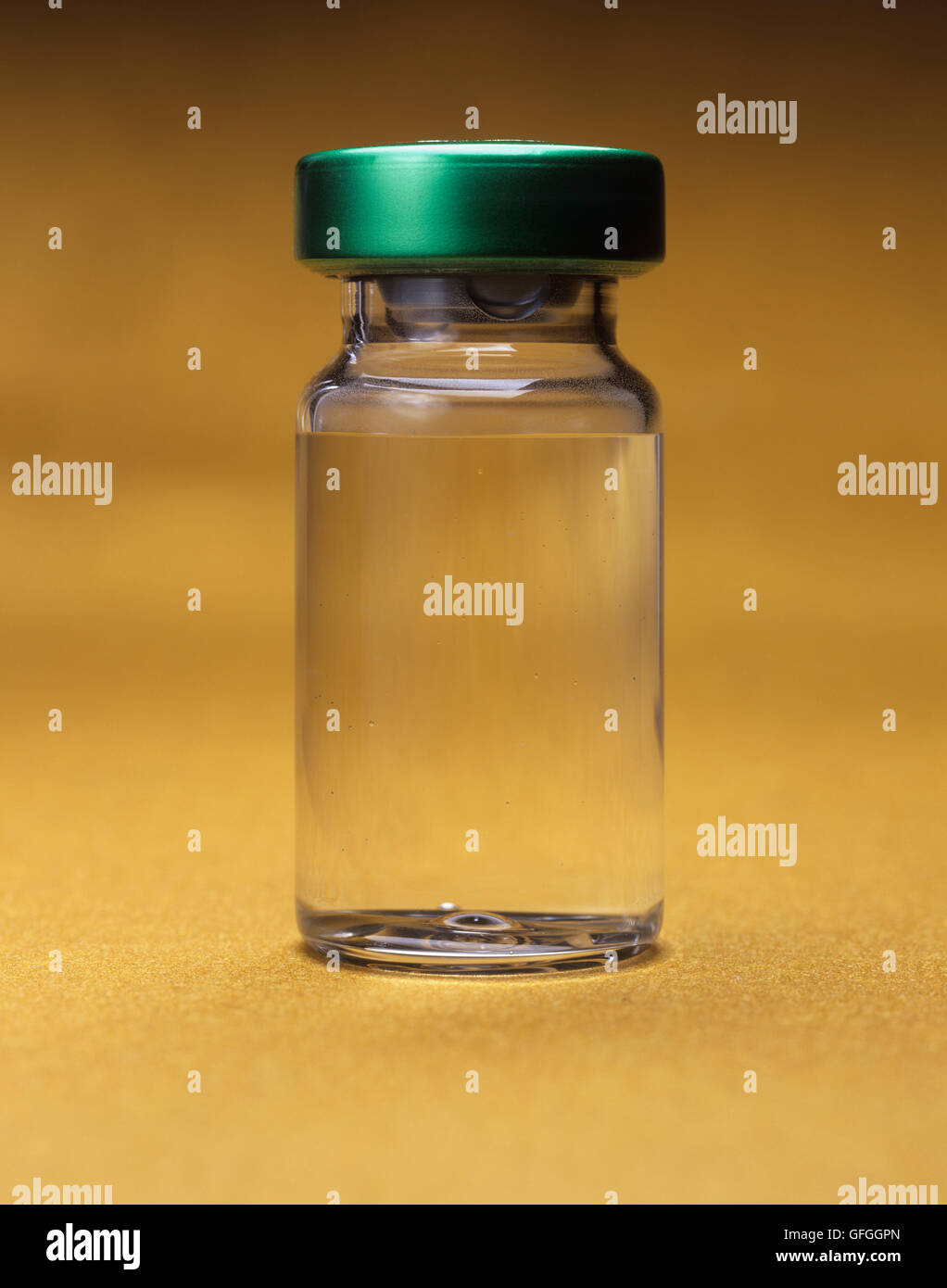 Product shot a generic glass vial - Stock Image
