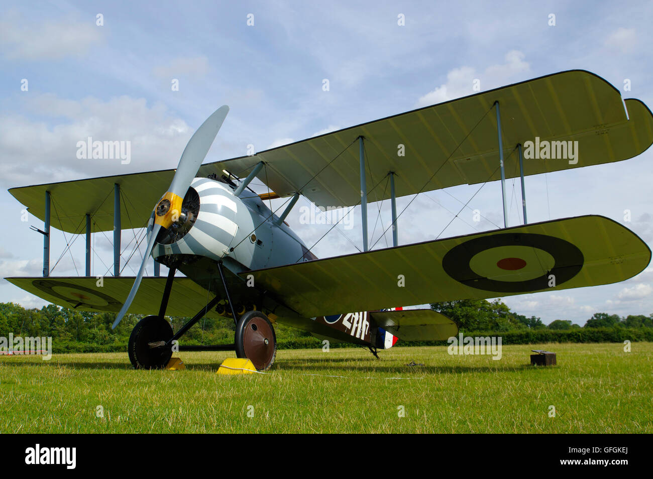 Sopwith Snipe replica at Stow Maries airfield Essex - Stock Image