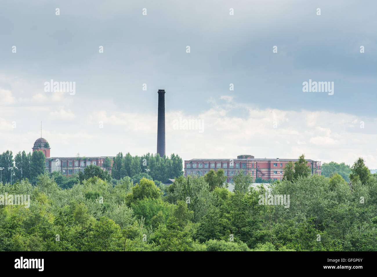 Lancashire cotton mills,Leigh - Stock Image