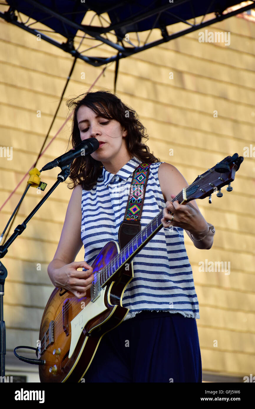 Gaby Moreno, is a Guatemalan singer-songwriter and guitarist. - Stock Image