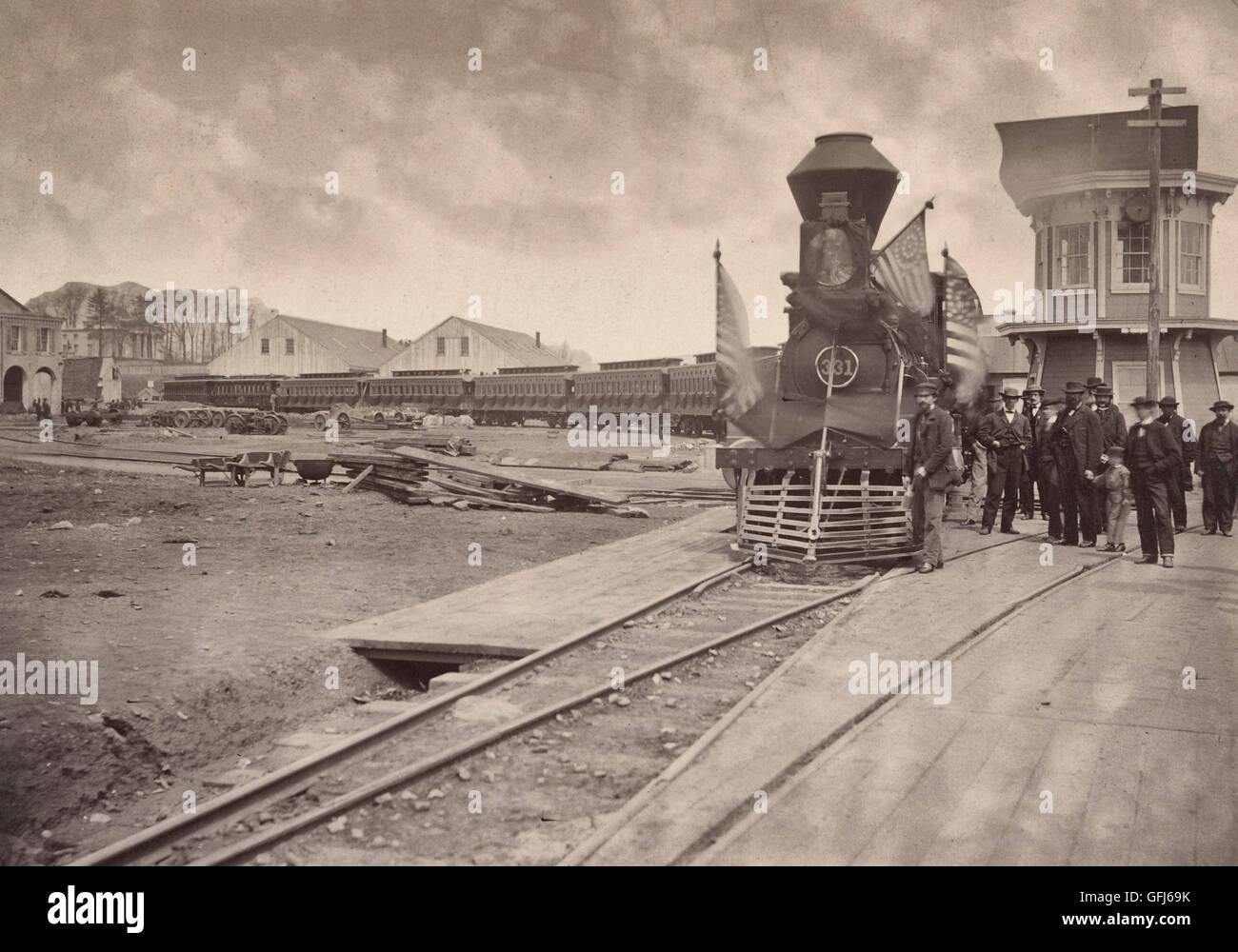 Lincoln Funeral Train Stock Photos Lincoln Funeral Train Stock