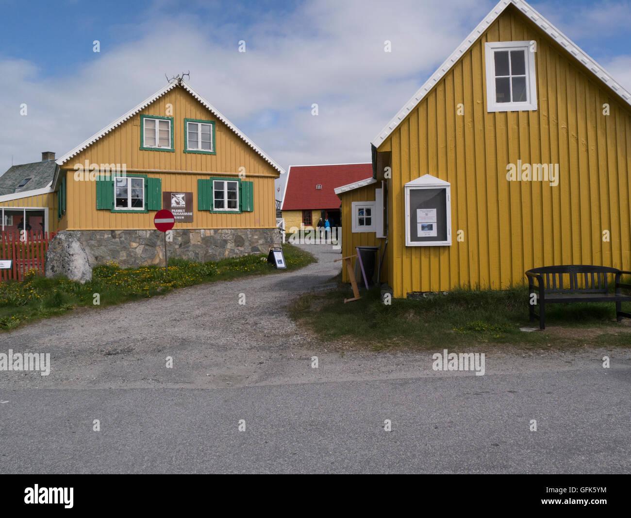 Paamiut  Katersugaasivik Museum South West Greenland small fishing community in Sermersooq municipality  Kuannersooq Stock Photo