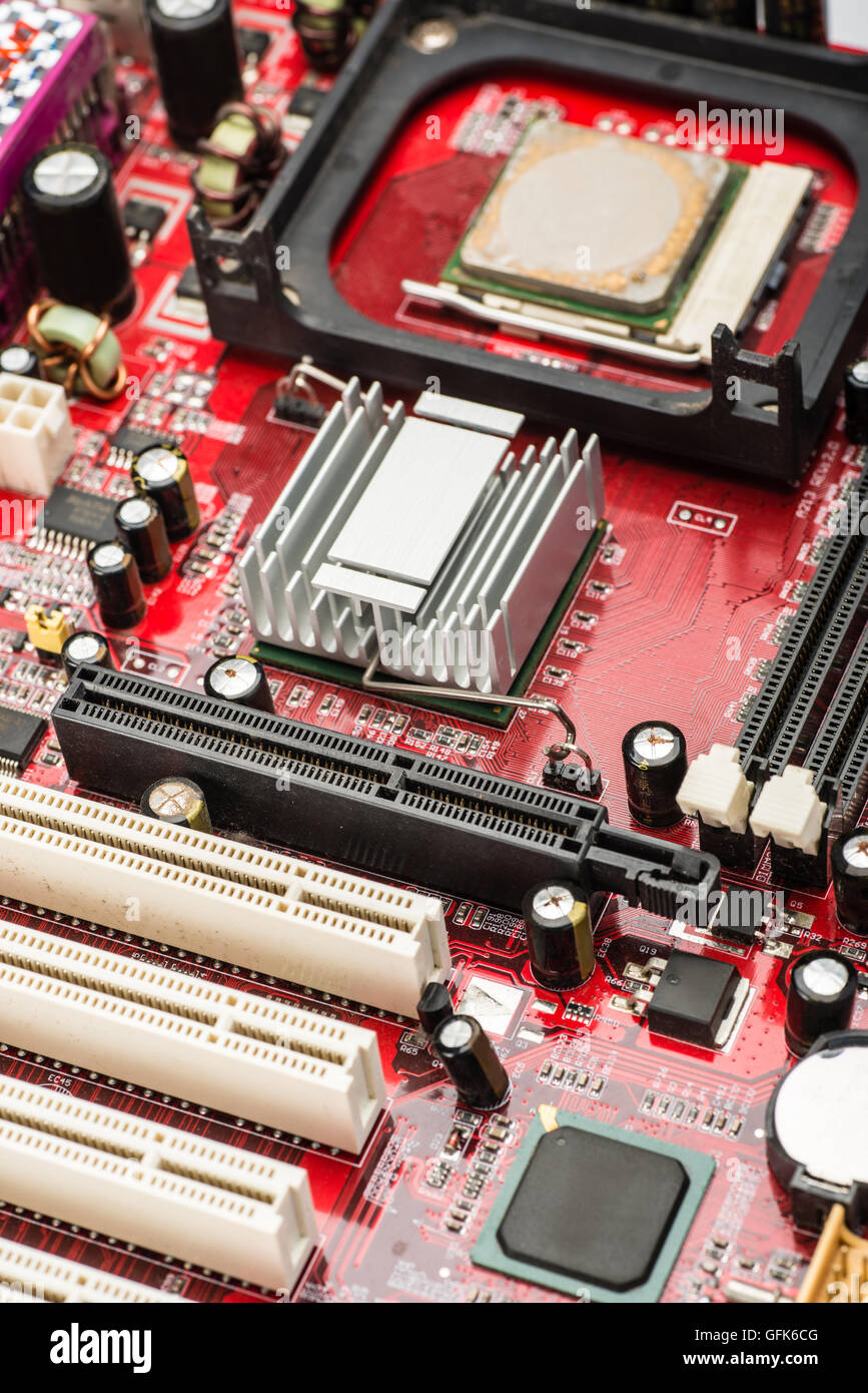 close up of  computer hardware - Stock Image