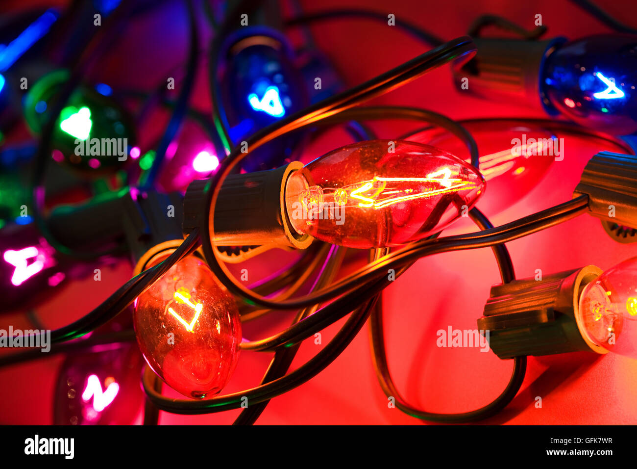 Incandescent Christmas Lights.Images Of Traditional C9 Style Incandescent Christmas Light
