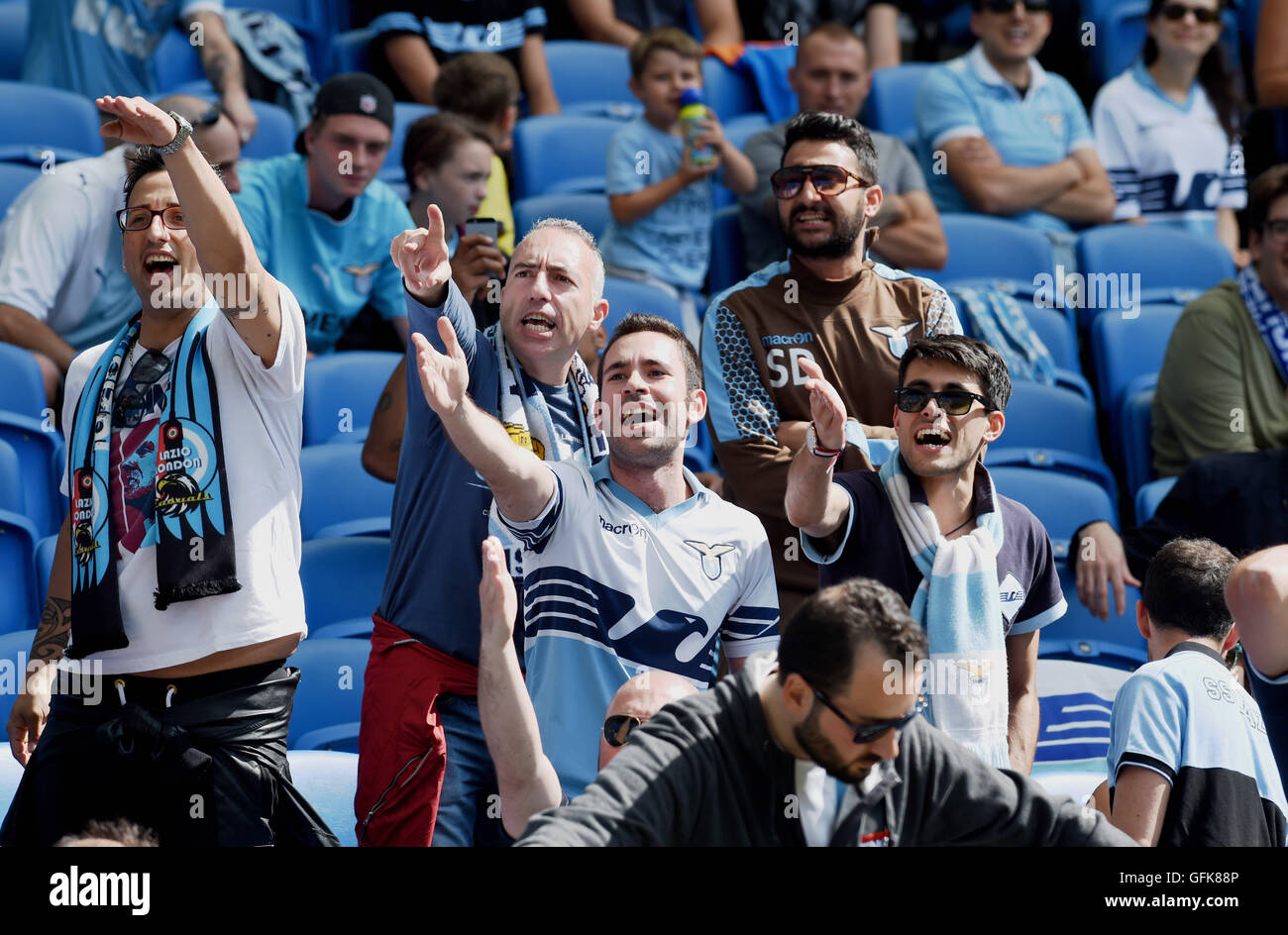 Lazio fans during the Friendly match between Brighton and Hove Albion and Lazio at the American Express Community Stock Photo