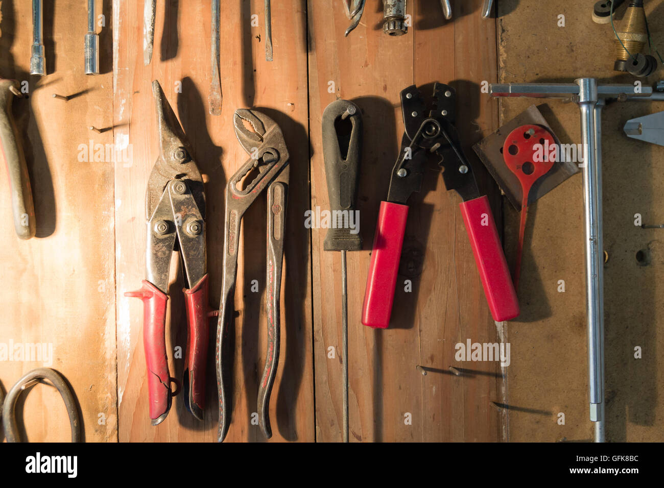 Hand Tool background. Industrial background. Bricolage tools. - Stock Image
