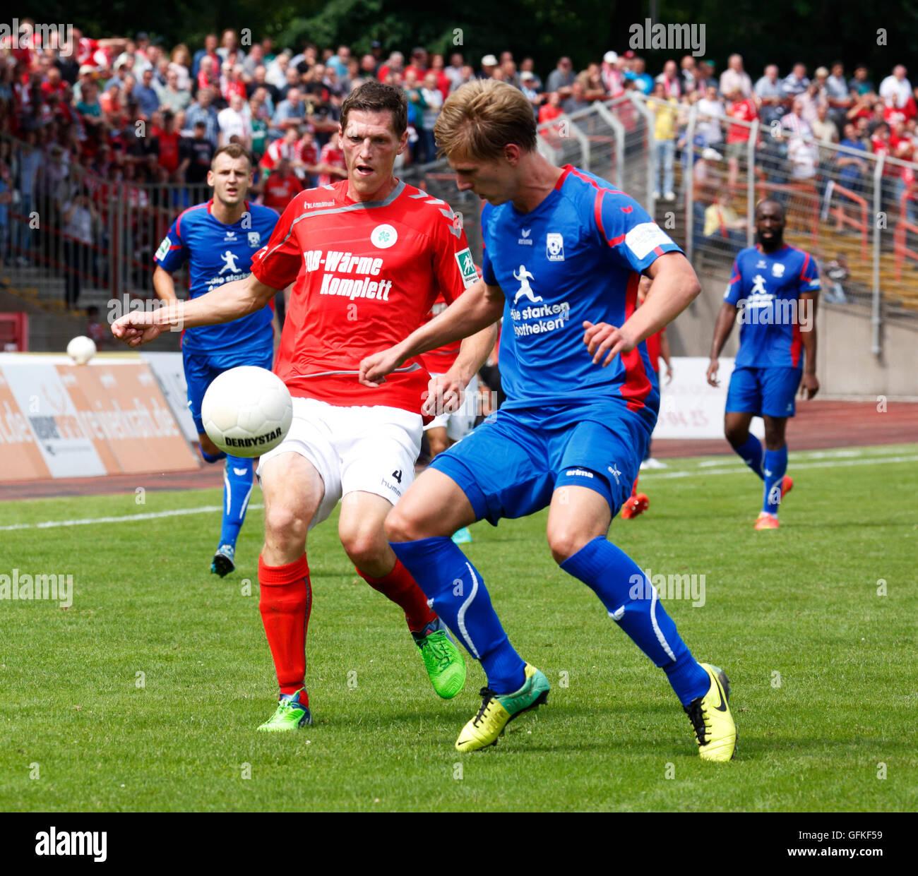 sports, football, Regional League West, 2016/2017, Rot Weiss Oberhausen versus Rot Weiss Ahlen 0:4, Stadium Niederrhein - Stock Image