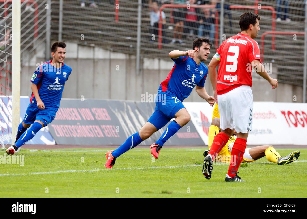 sports, football, Regional League West, 2016/2017, Rot Weiss Oberhausen versus Rot Weiss Ahlen 0:4, Stadium Niederrhein Stock Photo