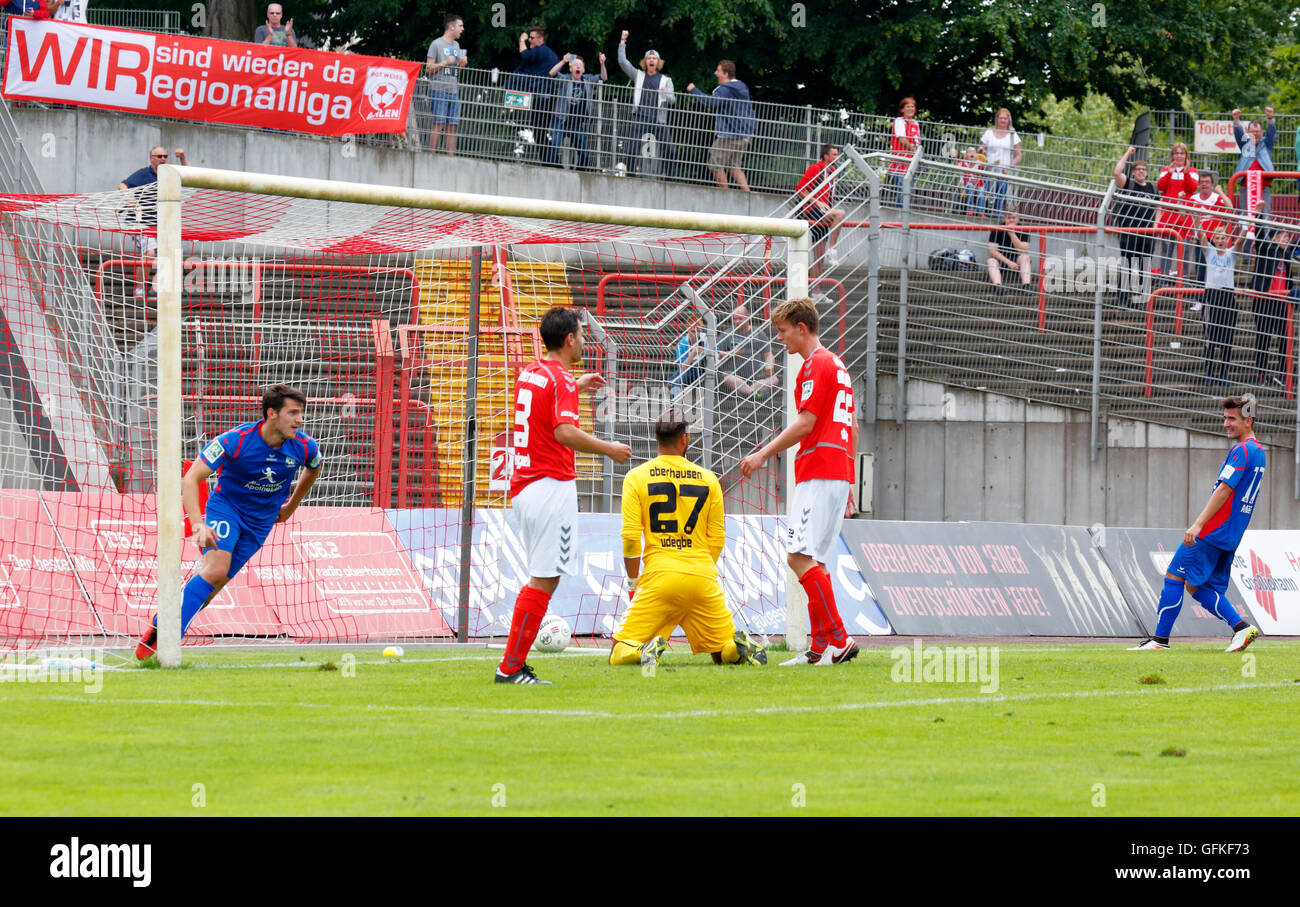 sports, football, Regional League West, 2016/2017, Rot Weiss Oberhausen versus Rot Weiss Ahlen 0:4, Stadium Niederrhein Stock Photo