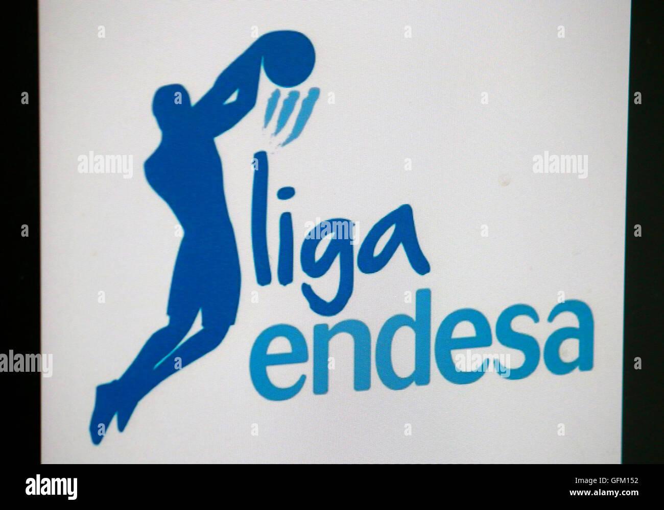 Loge der Marke 'Liga Endesa', Berlin. - Stock Image