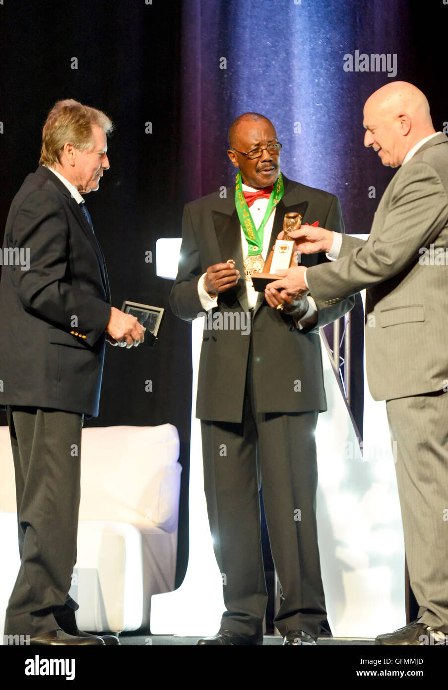 Las Vegas, Nevada, USA. 30th July, 2016. Thell Torrence honored at the 4th Annual Nevada Boxing Hall of Fame Induction - Stock Image