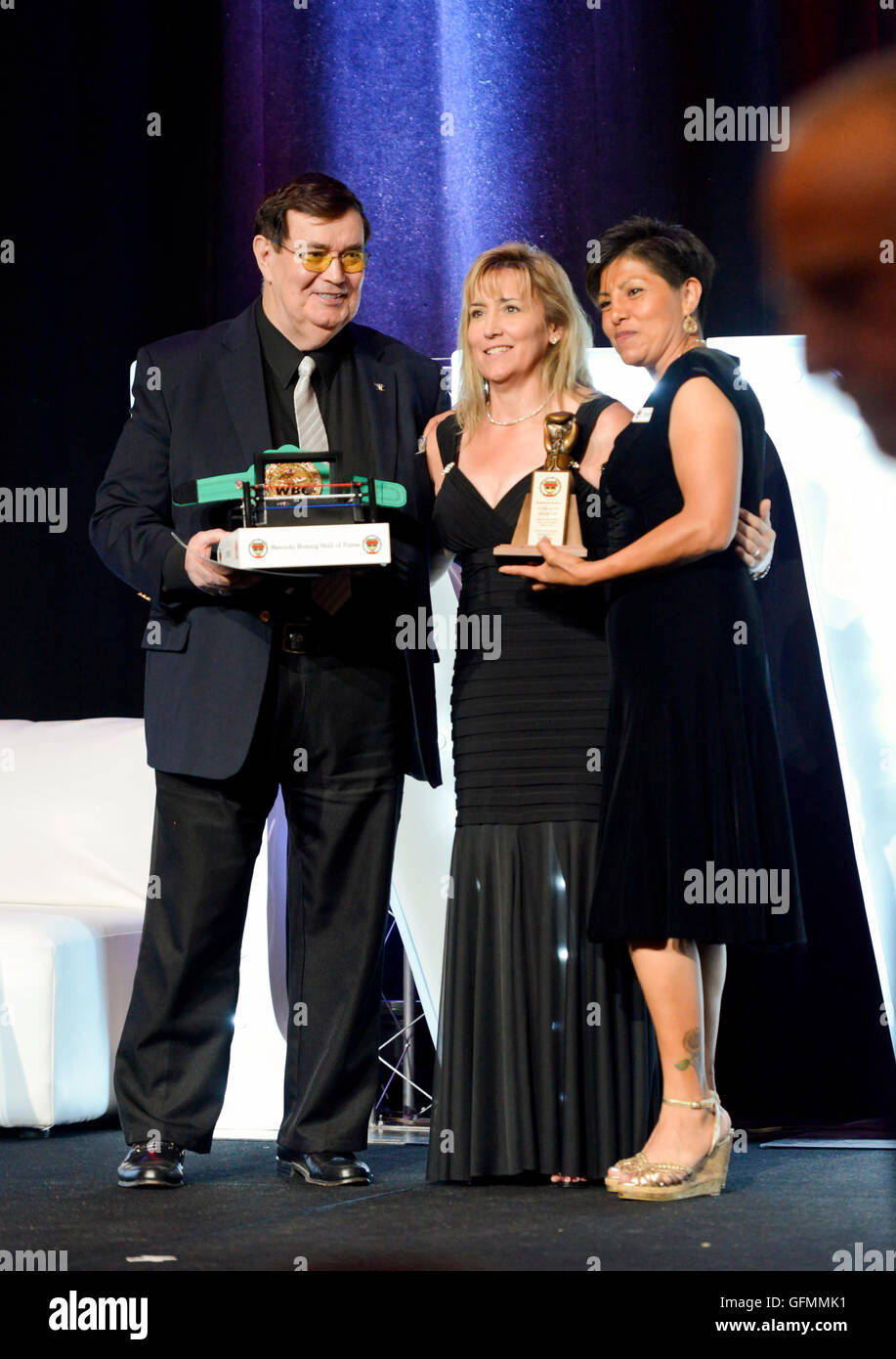Las Vegas, Nevada, USA. 30th July, 2016. Christy Martin Former Women Welterweight World Champion honored at the - Stock Image
