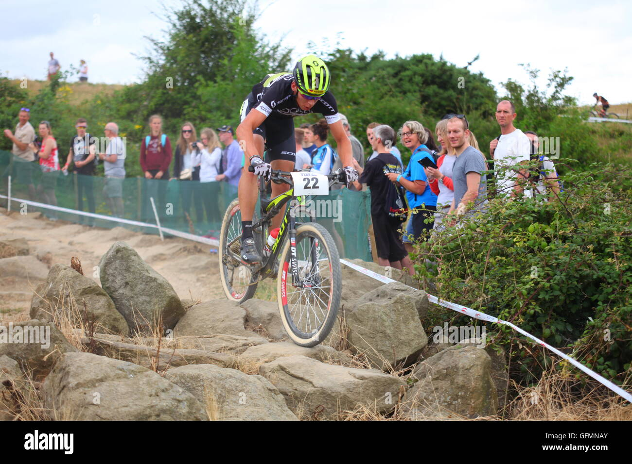 Hadleigh, England, UK 31st July 2016 Hadleigh Park International UCI HC-class mountain bike event. For the first - Stock Image