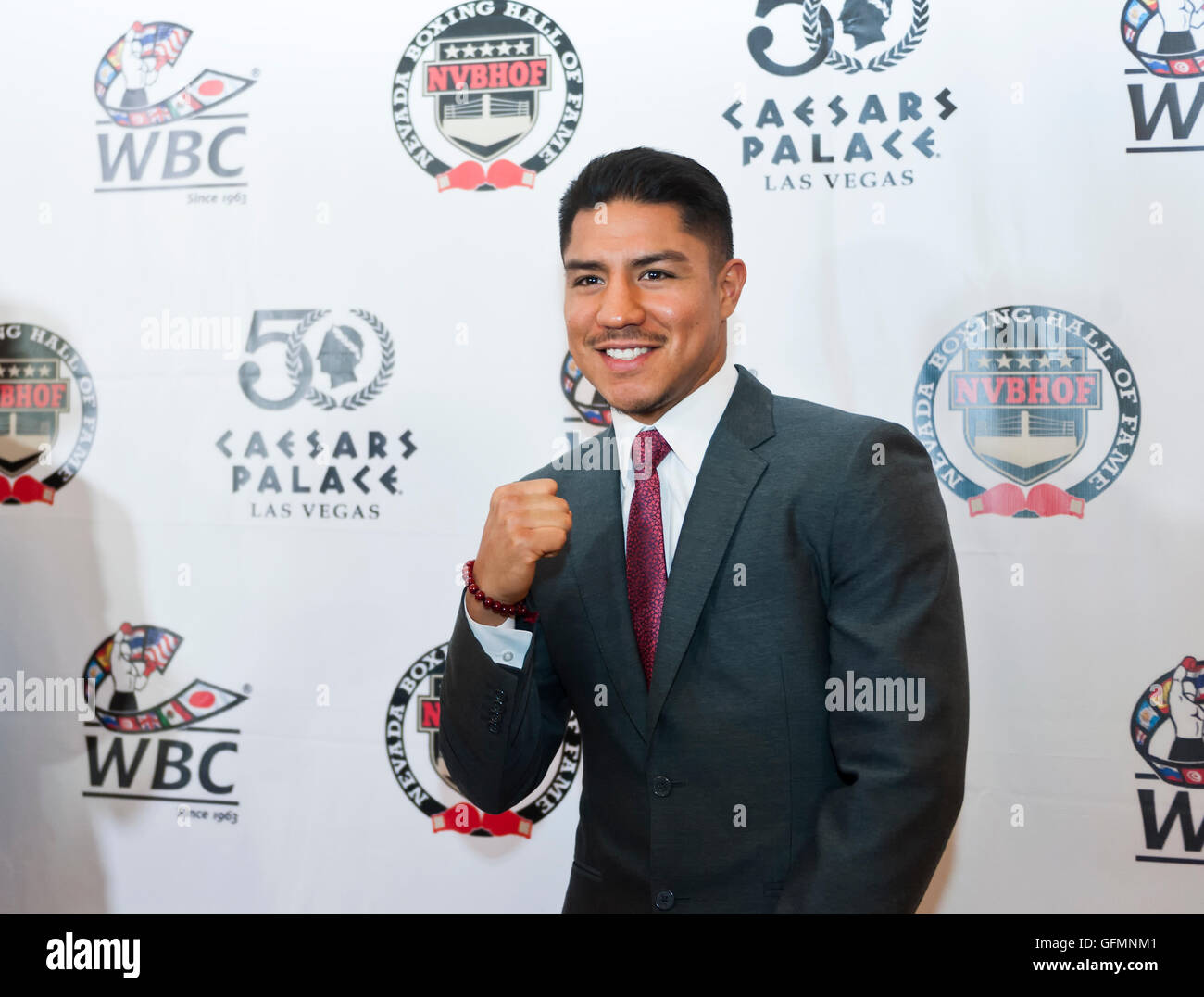 Las Vegas, Nevada, USA. 30th July, 2016. Jessie Vargas on the red carpet at the 4th Annual Nevada Boxing Hall of - Stock Image
