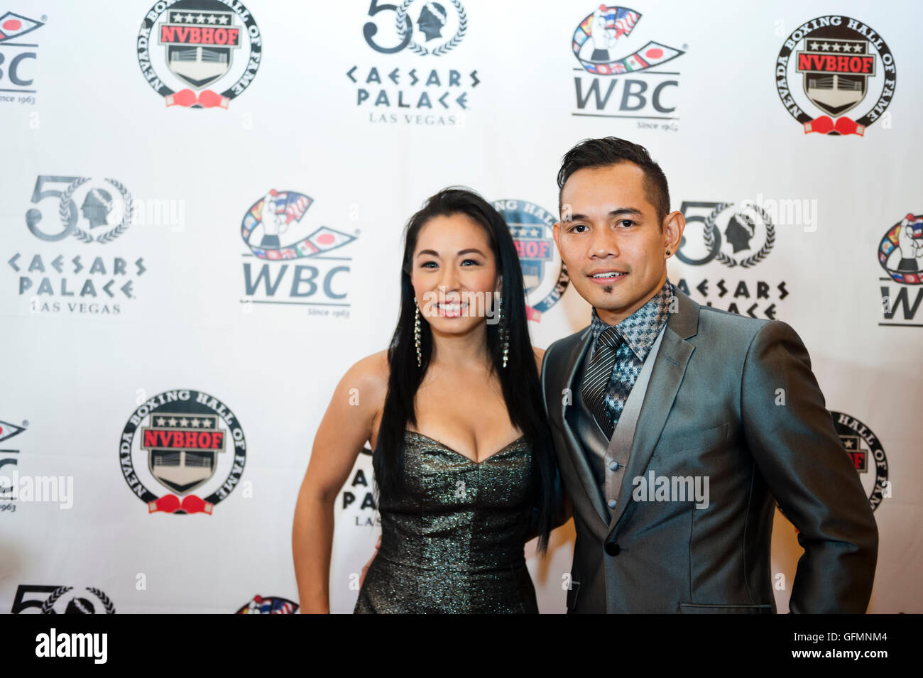 Las Vegas, Nevada, USA. 30th July, 2016. Nonito Donaire on the red carpet at the 4th Annual Nevada Boxing Hall of - Stock Image