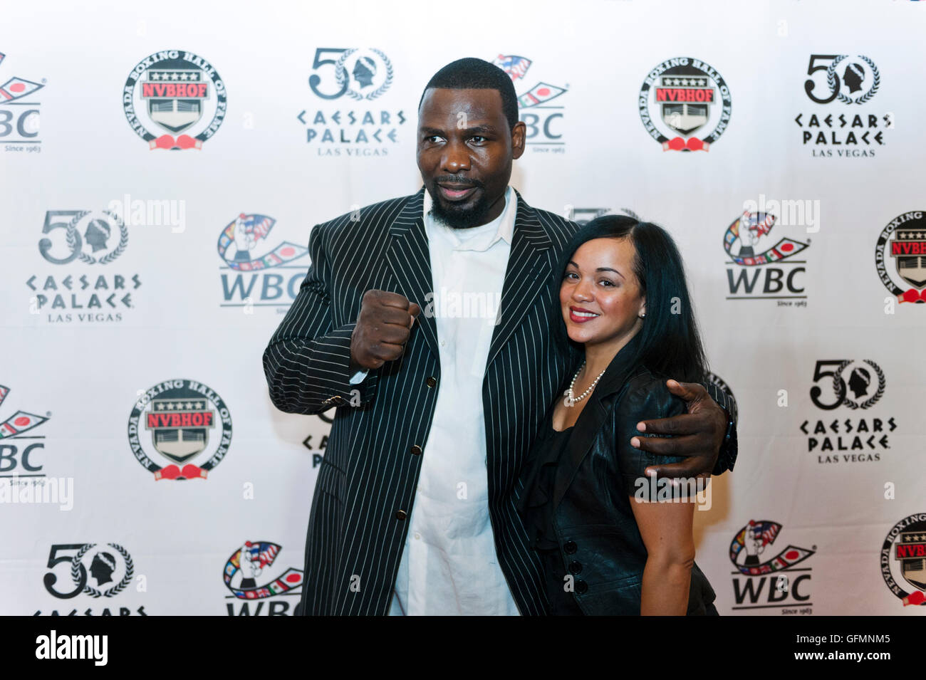 Las Vegas, Nevada, USA. 30th July, 2016. Hasim Rahman on the red carpet at the 4th Annual Nevada Boxing Hall of - Stock Image