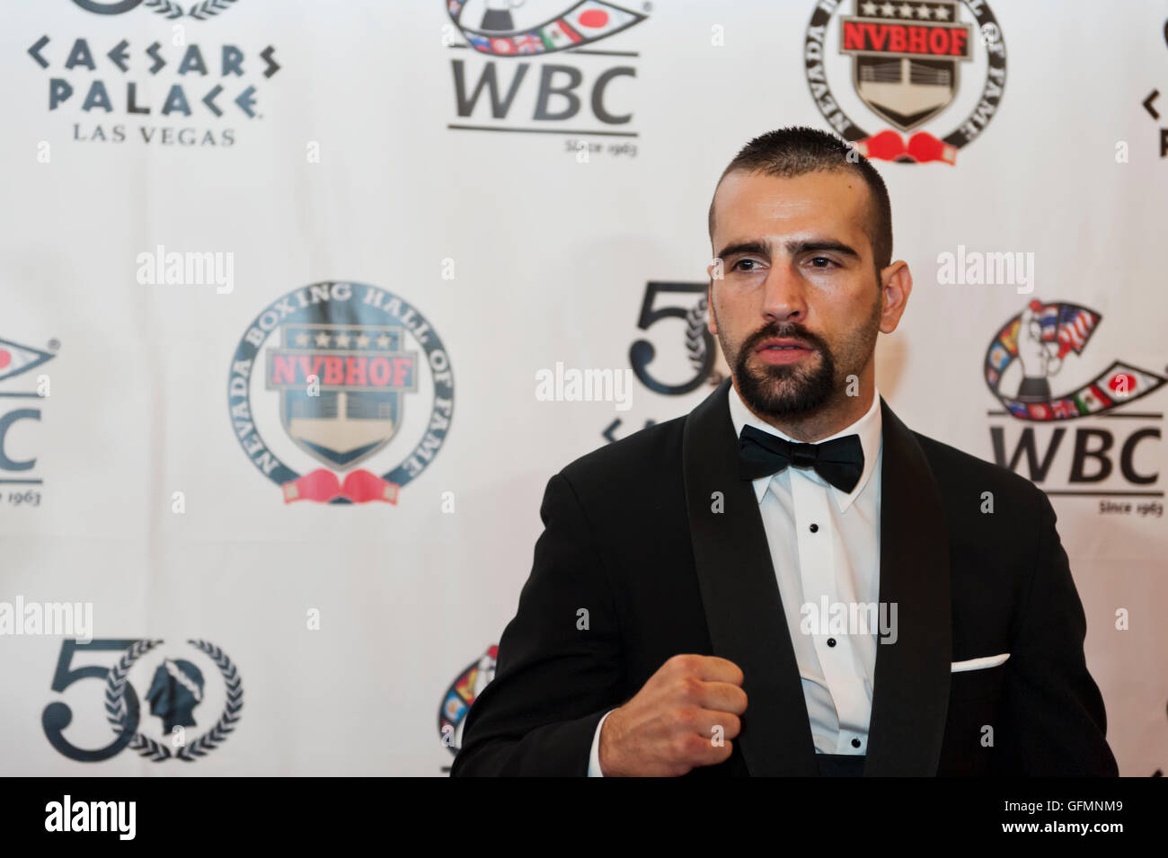 Las Vegas, Nevada, USA. 30th July, 2016. Milorad Zizic on the red carpet at the 4th Annual Nevada Boxing Hall of - Stock Image