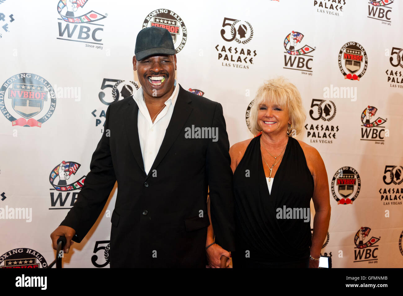 Las Vegas, Nevada, USA. 30th July, 2016. Leon Spinks on the red carpet at the 4th Annual Nevada Boxing Hall of Fame - Stock Image