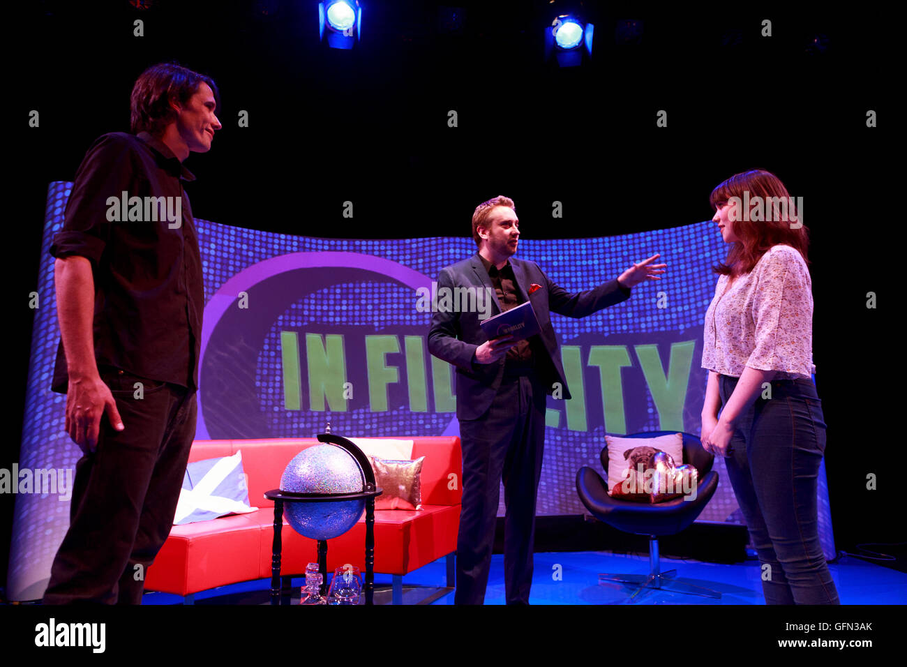 Edinburgh, UK. 1st August. Press call Edinburgh Fringe Festival present In Fidelity in Traverse Theatre Edinburgh. - Stock Image