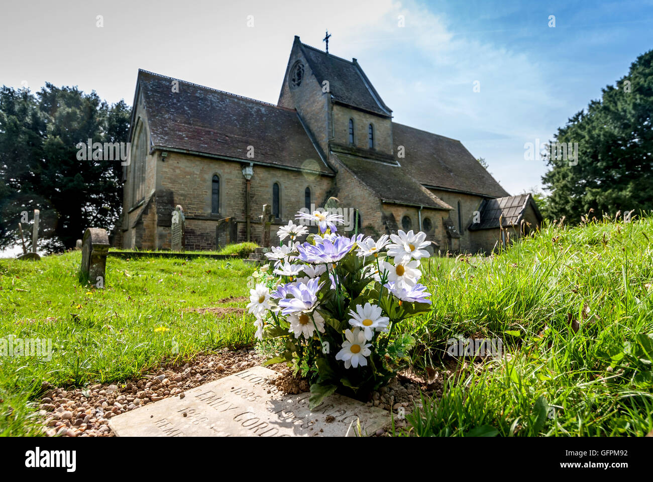 St Mary's Church in Chailey, with its unique saddle-back roof, now converted to private housing. - Stock Image