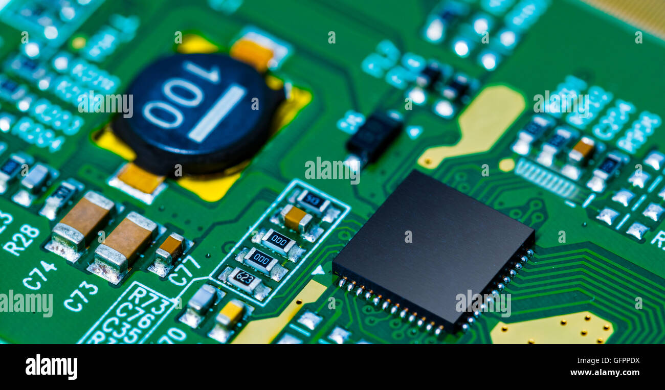 Pcb Printed Circuit Board 13 Royalty Free Stock Photos Image Microchip On