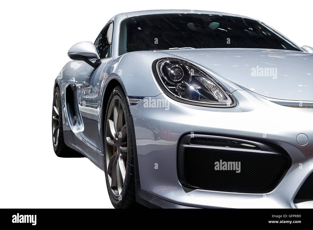 Abstract Shot Of A Porsche Cayman GT4, Isolated With Clipping Path Included    Stock Image
