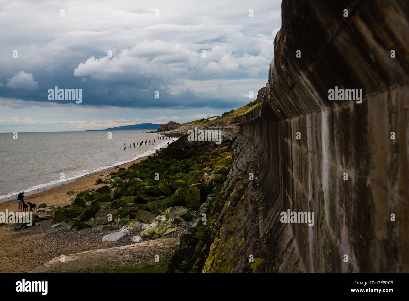 Rainbow Bridge, Colwyn Bay, Wales. - Stock Image