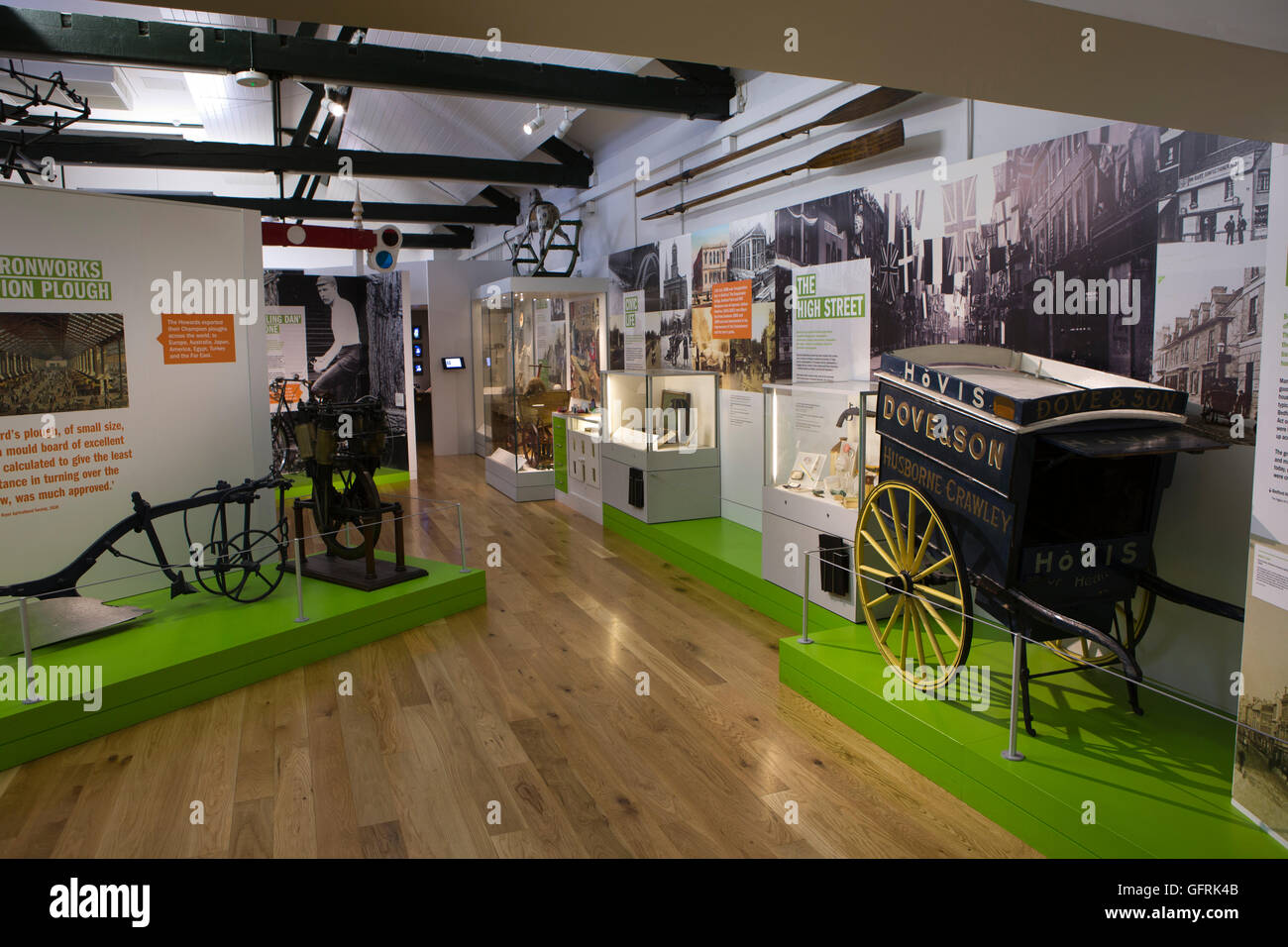 UK, England, Bedfordshire, Bedford, The Higgins museum, local industry gallery exhibits - Stock Image