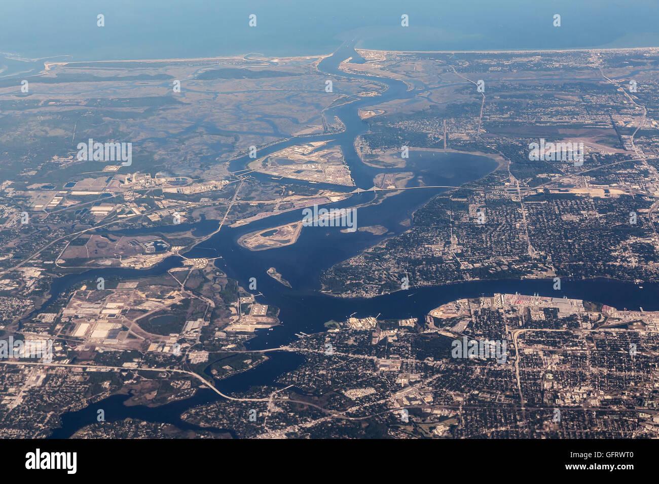 Jacksonville Florida city skyline at the Friendship Park ...  |Jacksonville Florida Photography