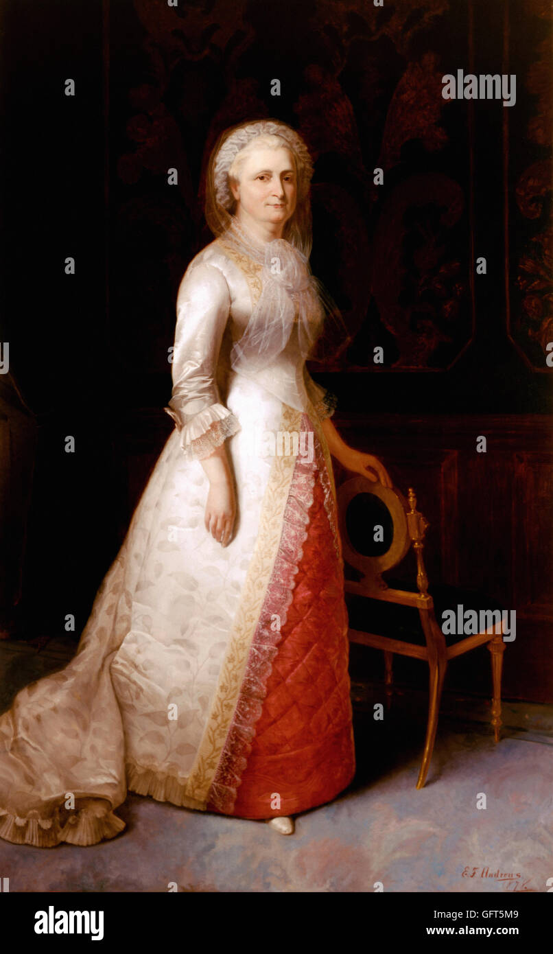 Eliphalet Frazer Andrews - Martha Dandridge Custis Washington (Mrs. George Washington) - Stock Image