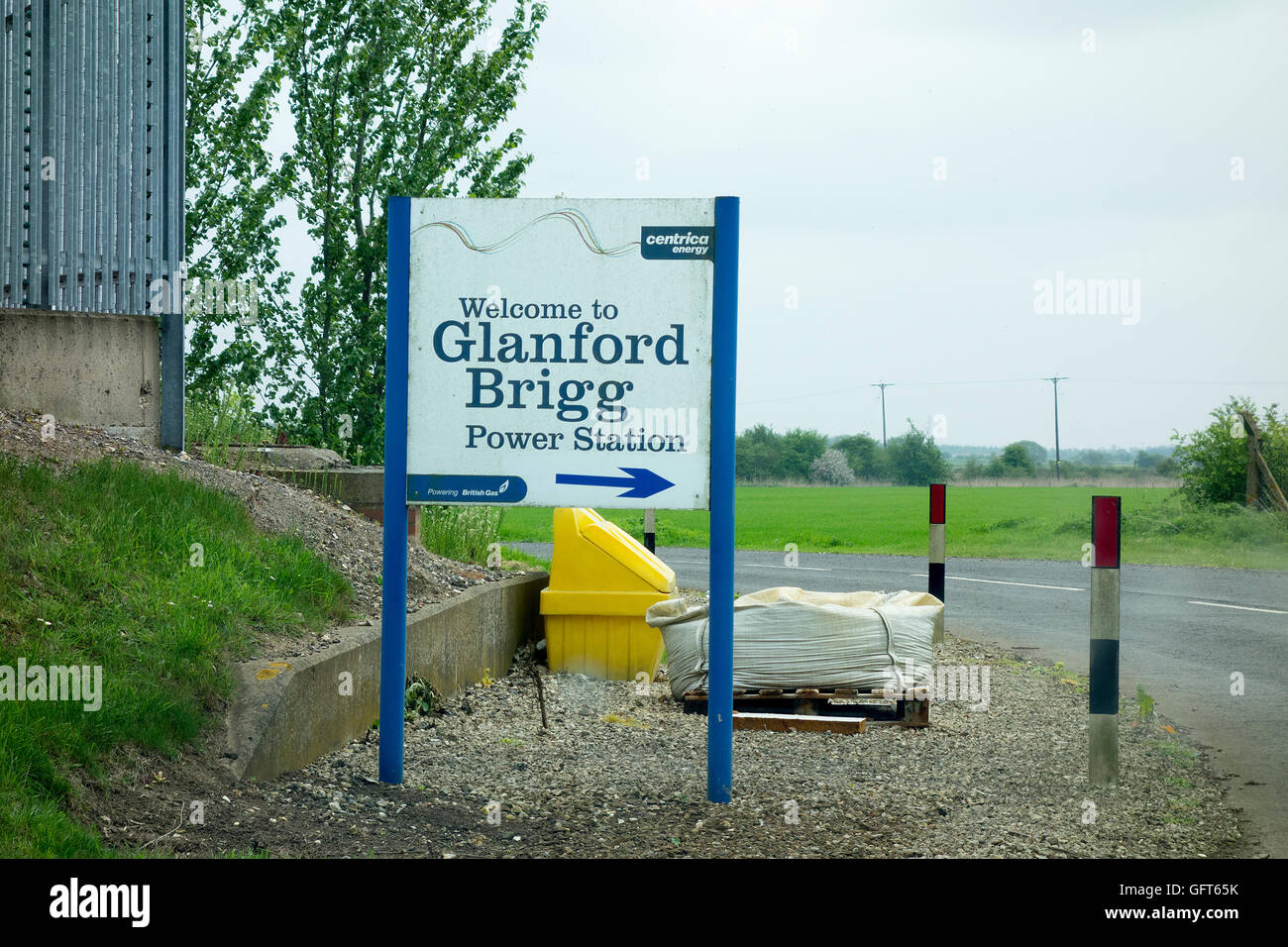 Glanford Brigg Power Station Centrica Energy British Gas Brigg England Stock Photo