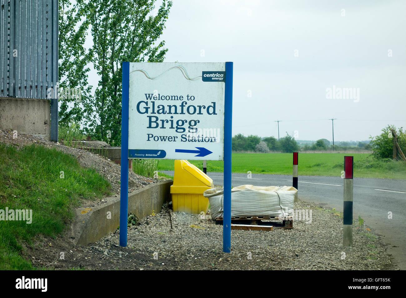 Glanford Brigg Power Station Centrica Energy British Gas Brigg England - Stock Image