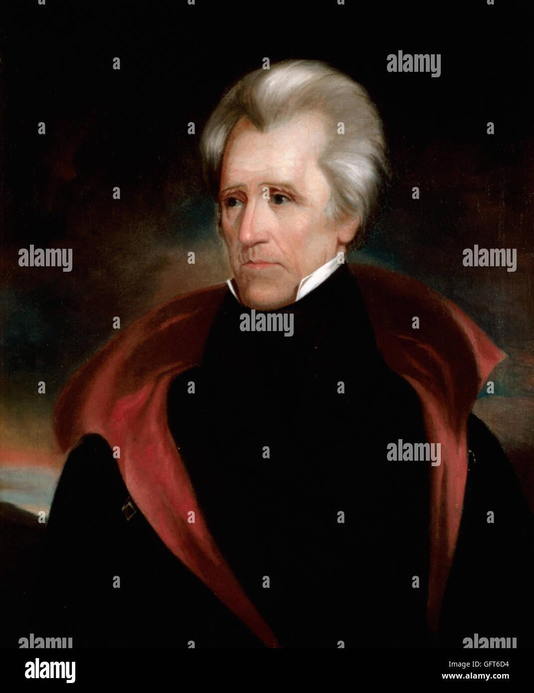 Ralph Eleaser Whiteside Earl - Andrew Jackson - Stock Image