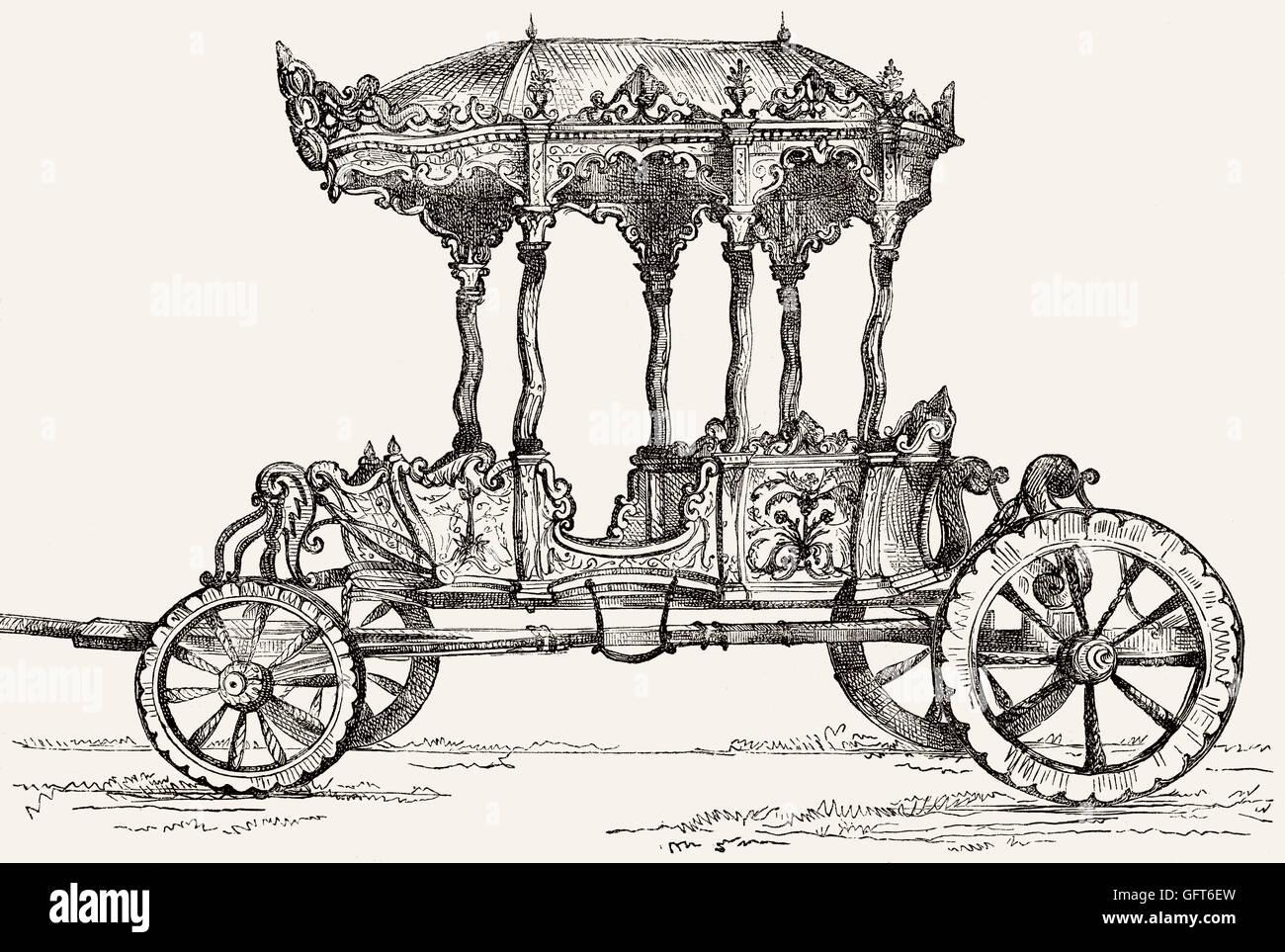 An Arabic harem araba, 19th century - Stock Image