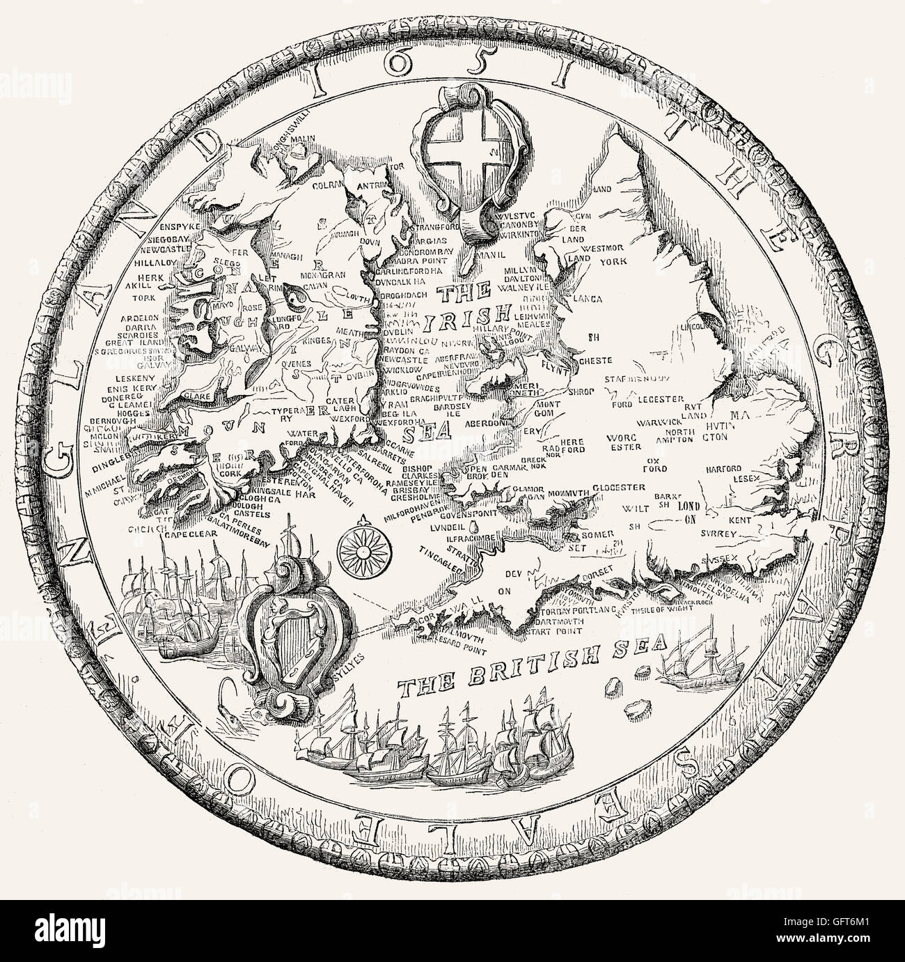 The Second Great Seal of England, 1651 - Stock Image