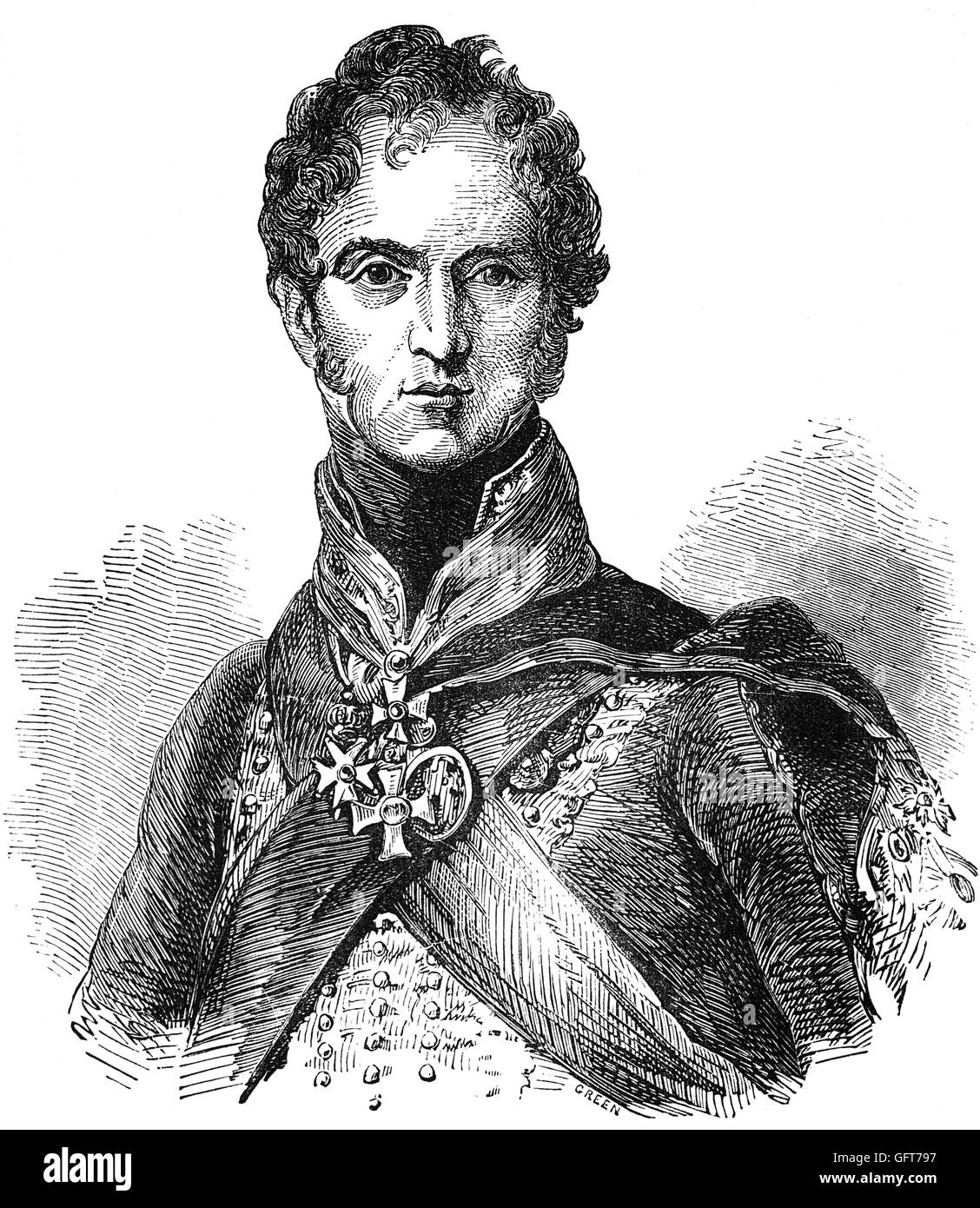 Field Marshal Lord Paget, 1st Marquess of Anglesey, (1768 – 1854),  was a British Army officer and politician. He - Stock Image
