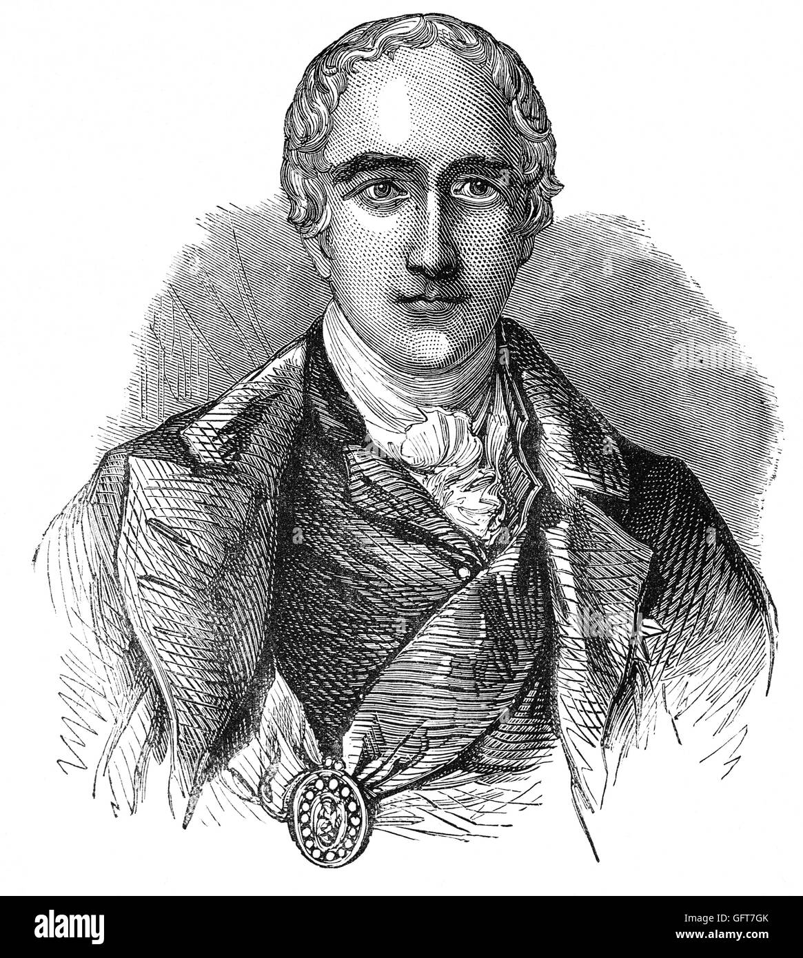Richard Colley Wesley, 1st Marques Wellesley (1760 – 1842) was the brother of the Duke of Wellington. He was an - Stock Image