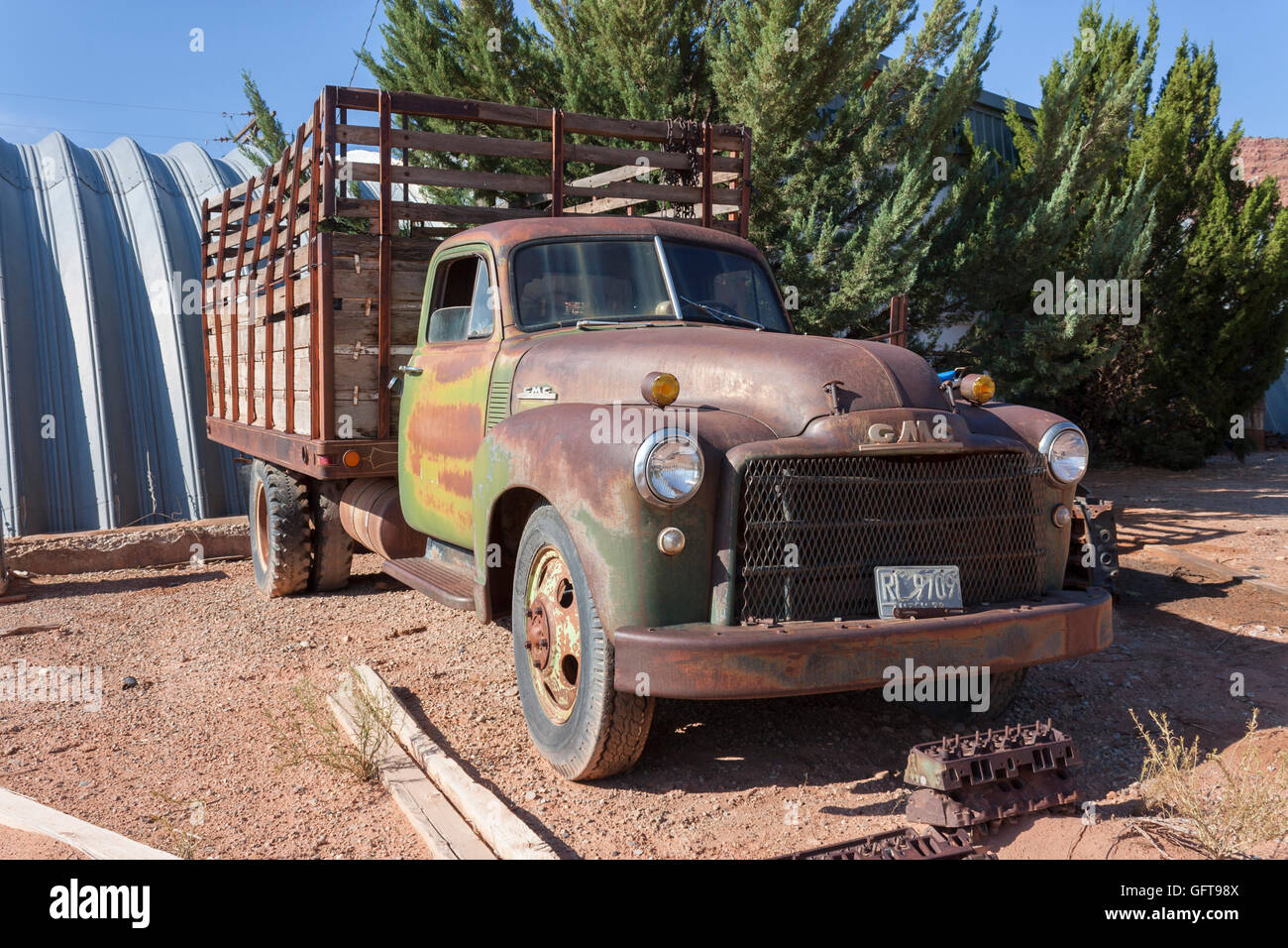 Vintage Gmc Truck Stock Photos Images Alamy 1941 Coe Classic 1940s Cattle Image