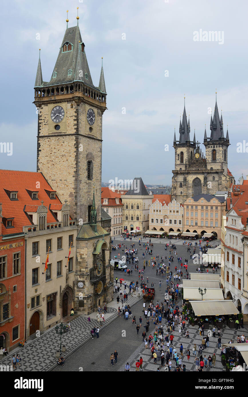 Prague S Old Town Square Viewed From The Restaurant Terasa U